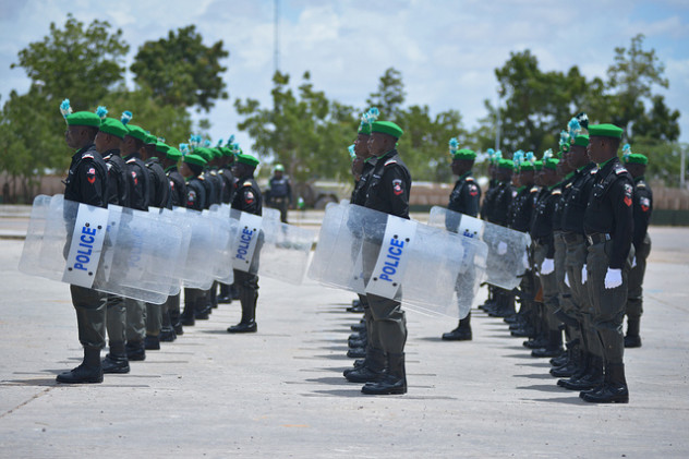 Members of the Nigerian FPU (Formed Police Unit)