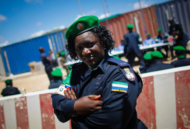 Sierra Leonian police officer in Somalia